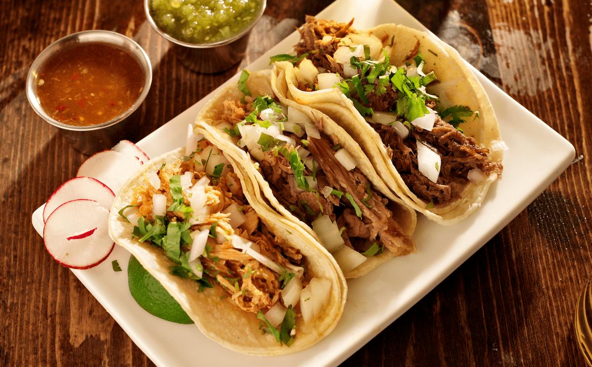 3 delicious tacos